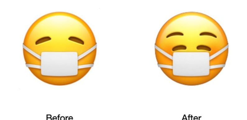 Apple's new emoji wants you to know that you should not be sad while wearing a face mask