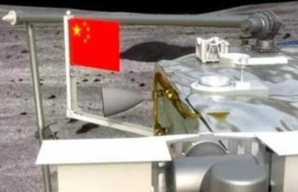 China leaves picture of its flag on the moon in a spacecraft carrying lunar rocks