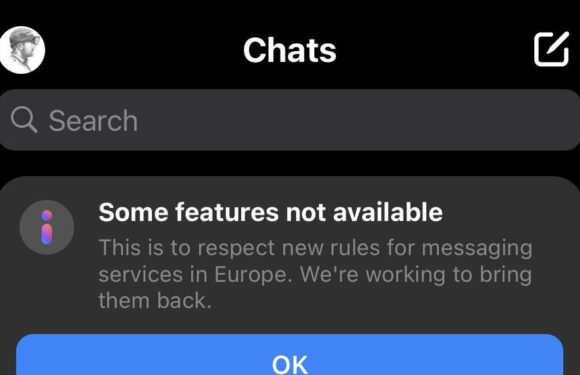 Facebook briefly disables some Messenger and Instagram features in Europe to comply with EU data rules