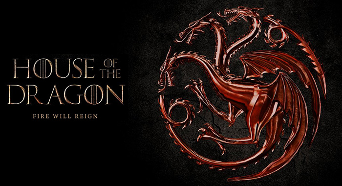 Look at the animated House of the Dragon logo