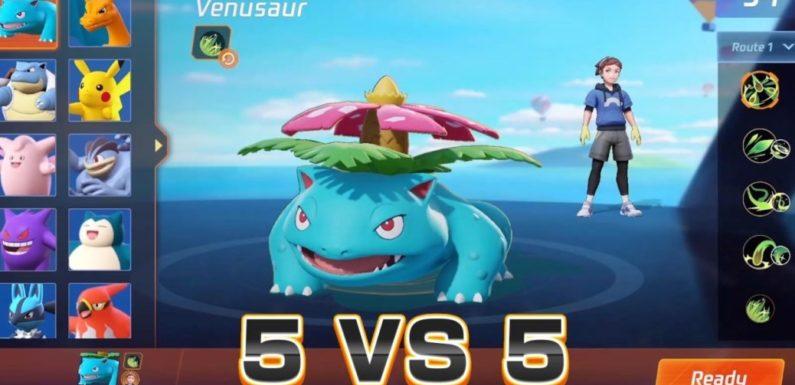 Pokemon Unite gameplay footage leaked