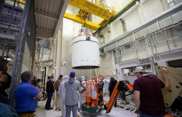 Orion prepared to fuel-up for Artemis I Mission