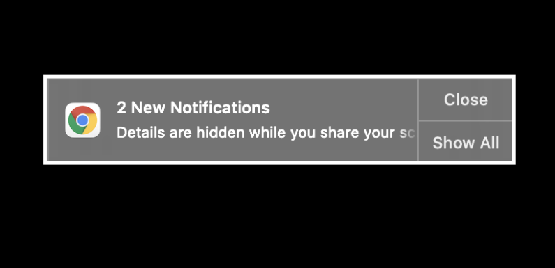 The most effective method to mute Chrome Notifications when sharing your screen