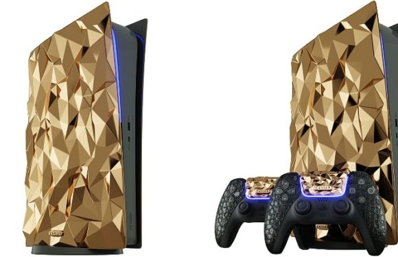 Caviar Covers- The Sony PlayStation 5 in Gold and Crocodile Leather